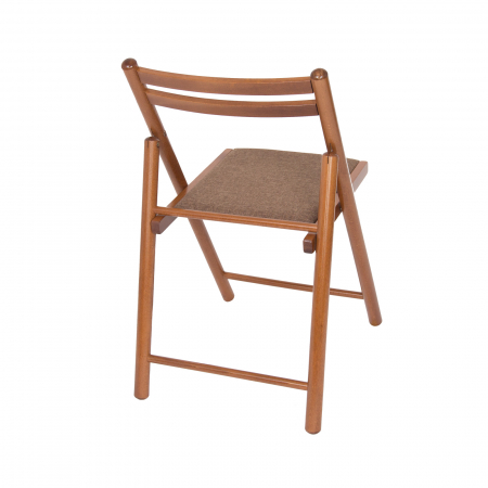Scaun pliant din lemn IGOR R tapitat nuc [2]
