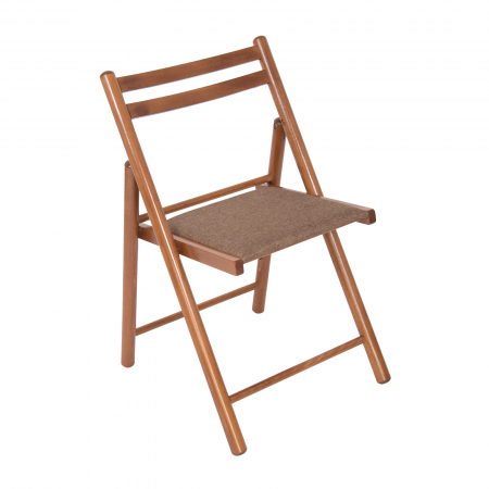 Scaun pliant din lemn IGOR R tapitat nuc [0]