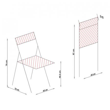Scaun pliant din lemn IGOR R tapitat nuc [7]