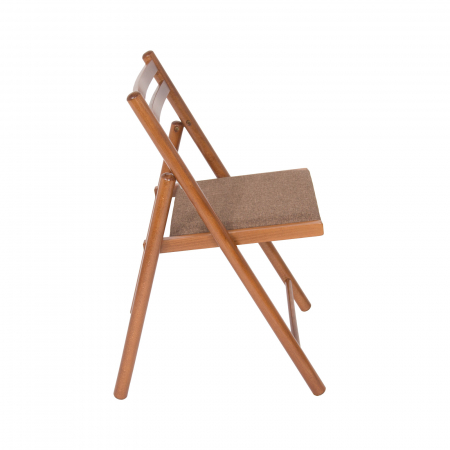 Scaun pliant din lemn IGOR R tapitat nuc [1]