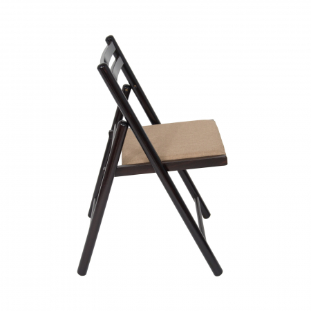 Scaun pliant din lemn IGOR R tapitat wenge [1]