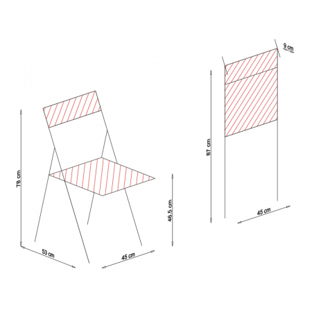Scaun pliant din lemn IGOR R tapitat wenge [6]