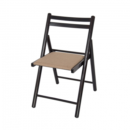 Scaun pliant din lemn IGOR R tapitat wenge [4]