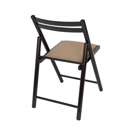 Scaun pliant din lemn IGOR R tapitat wenge [2]