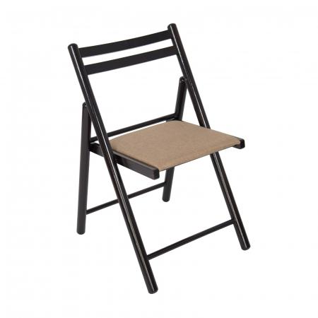 Scaun pliant din lemn IGOR R tapitat wenge [0]