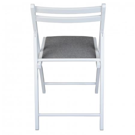 Scaun pliant din lemn IGOR tapitat alb [3]