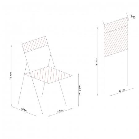 Scaun pliant din lemn IGOR tapitat alb [8]