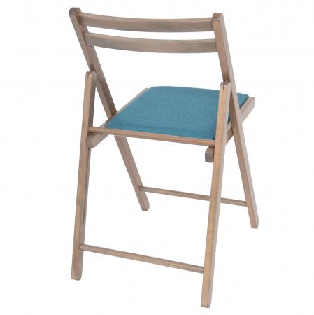 Scaun pliant din lemn IGOR tapitat maro-trufa [2]