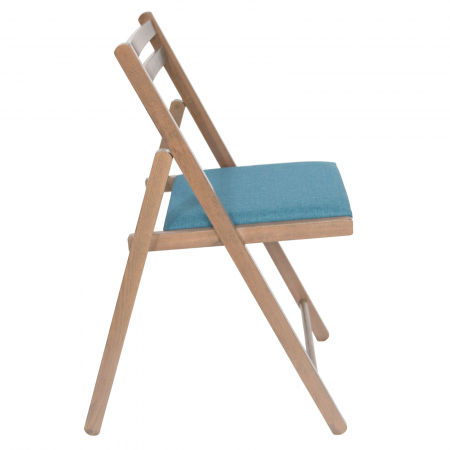 Scaun pliant din lemn IGOR tapitat maro-trufa [1]