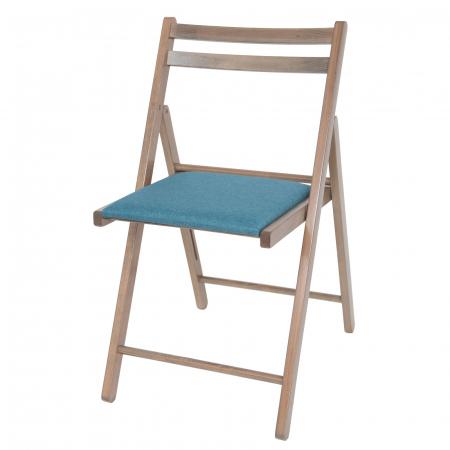 Scaun pliant din lemn IGOR tapitat maro-trufa [6]