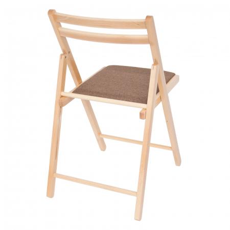 Scaun pliant din lemn IGOR tapitat natur [2]