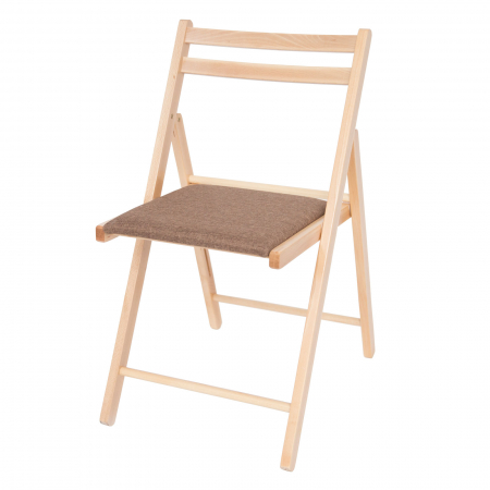 Scaun pliant din lemn IGOR tapitat natur [6]