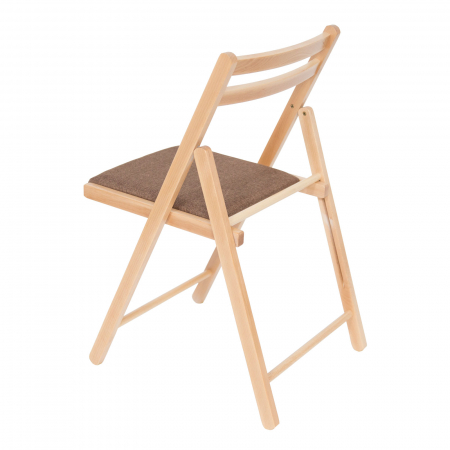 Scaun pliant din lemn IGOR tapitat natur [4]
