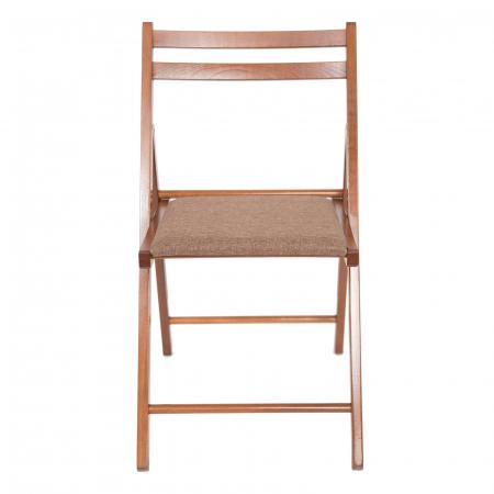 Scaun pliant din lemn IGOR tapitat nuc [7]