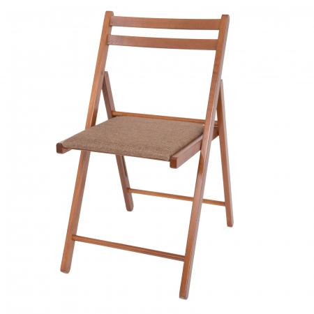 Scaun pliant din lemn IGOR tapitat nuc [6]
