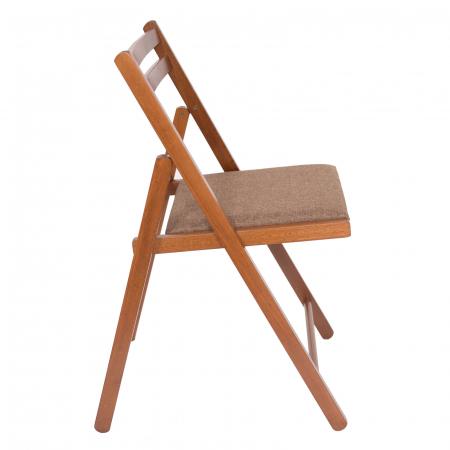 Scaun pliant din lemn IGOR tapitat nuc [1]