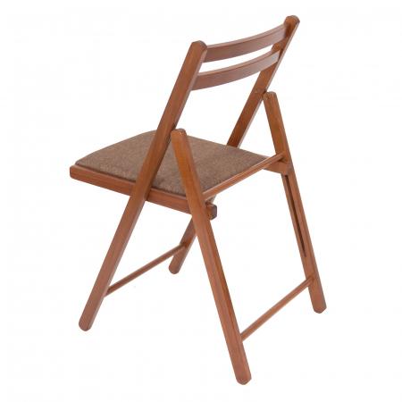 Scaun pliant din lemn IGOR tapitat nuc [4]