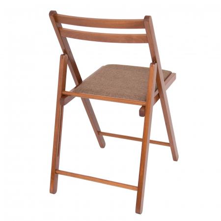 Scaun pliant din lemn IGOR tapitat nuc [2]