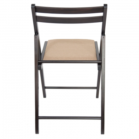 Scaun pliant din lemn IGOR tapitat wenge [3]