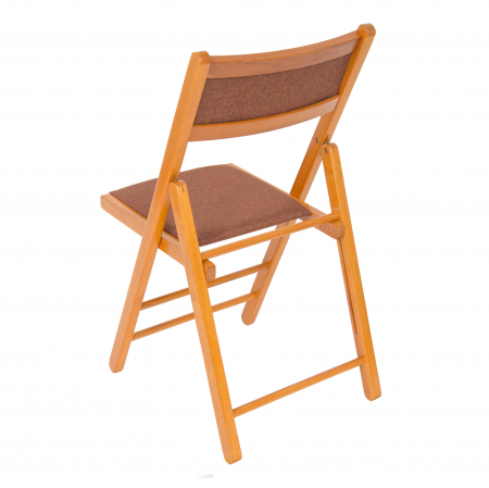 Scaun pliant din lemn Lori tapitat cires [2]