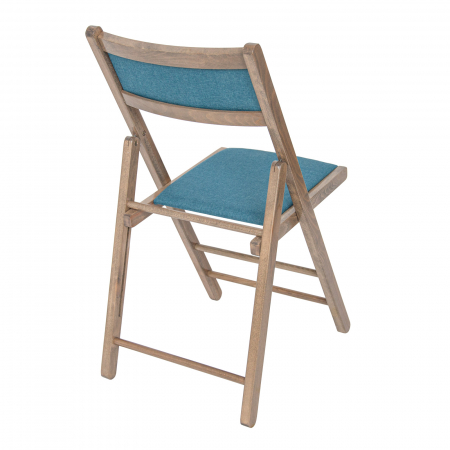 Scaun pliant din lemn Lori tapitat maro-trufa [1]