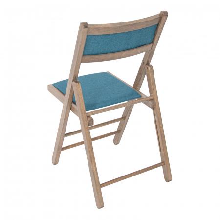 Scaun pliant din lemn Lori tapitat maro-trufa [2]