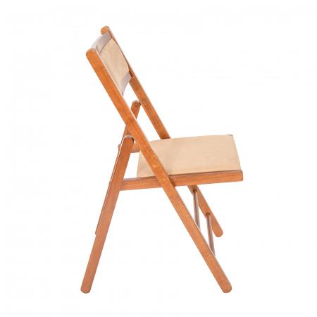 Scaun pliant din lemn Lori tapitat nuc [1]