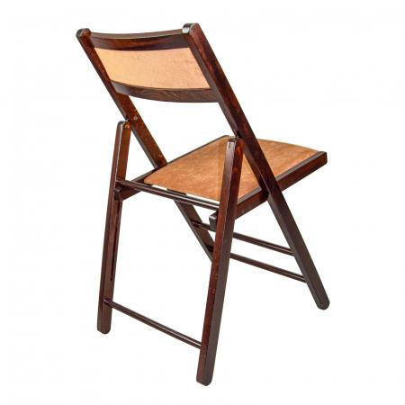 Scaun pliant din lemn Lori tapitat nuc ciocolata [1]