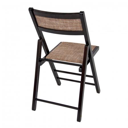 Scaun pliant din lemn Lori tapitat wenge [2]