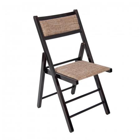 Scaun pliant din lemn Lori tapitat wenge [0]
