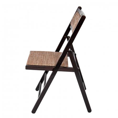 Scaun pliant din lemn Lori tapitat wenge [3]