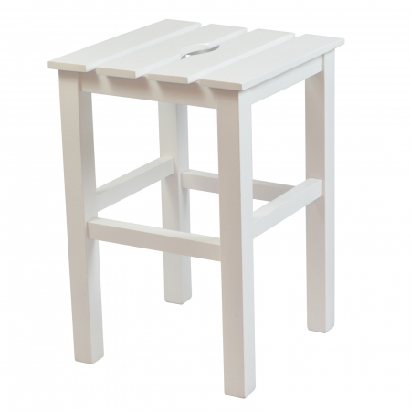Taburet din lemn Sauna alb [0]