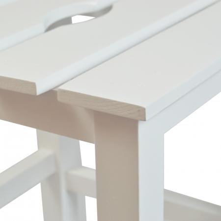 Taburet din lemn Sauna alb [3]