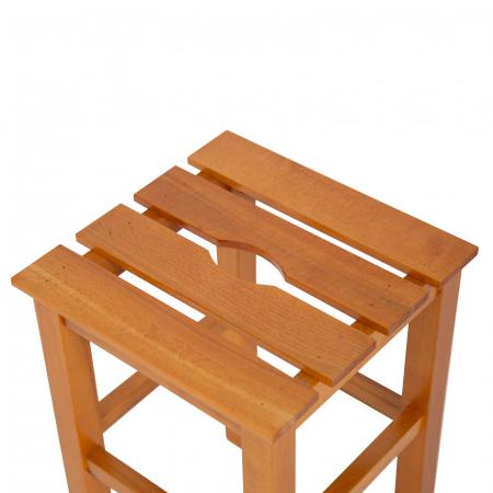 Taburet din lemn Sauna cires [2]