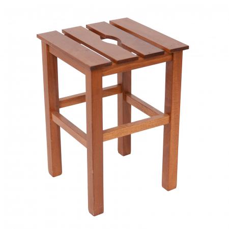 Taburet din lemn Sauna nuc [0]