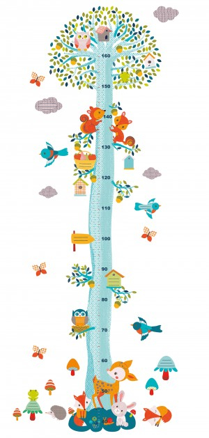 Abtibilduri masuratoare pentru copii, Veverite in copac [0]