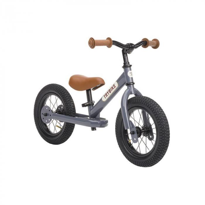 Bicicleta fara pedale 2 in 1 tricicleta copii, gri Trybike [0]