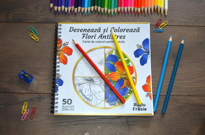Desenează și Colorează Flori Antistres [1]