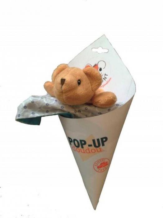 Jucarie din textil pentru bebe, elefant pop-up Egmont [1]