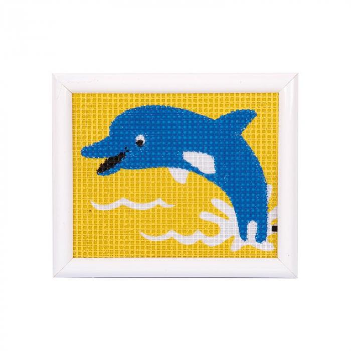 Kit creativ coasere in cruce Delfin, Kits4Kids [0]