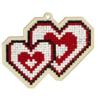 Pictura diamante kit Loving Hearts [0]