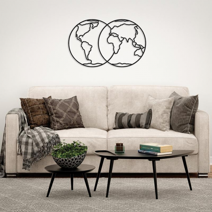 Puzzle 3D decorativ HEMISPHERES OF EARTH din lemn 91 piese @ EWA [1]