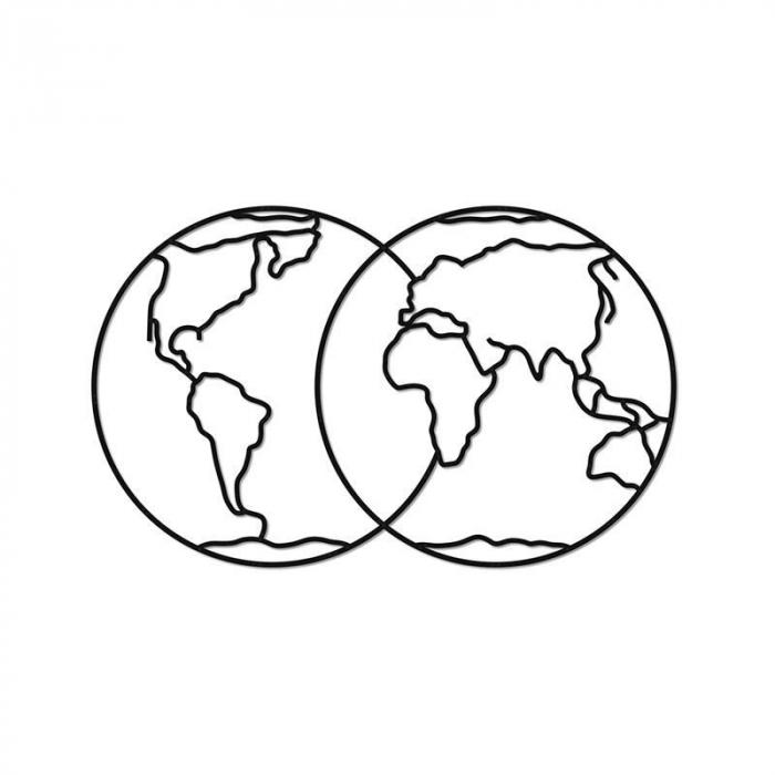 Puzzle 3D decorativ HEMISPHERES OF EARTH din lemn 91 piese @ EWA [0]