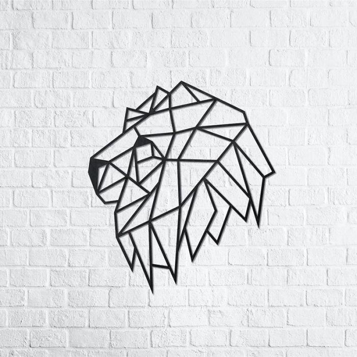 Puzzle 3D decorativ LION HEAD din lemn 134 piese @ EWA [2]