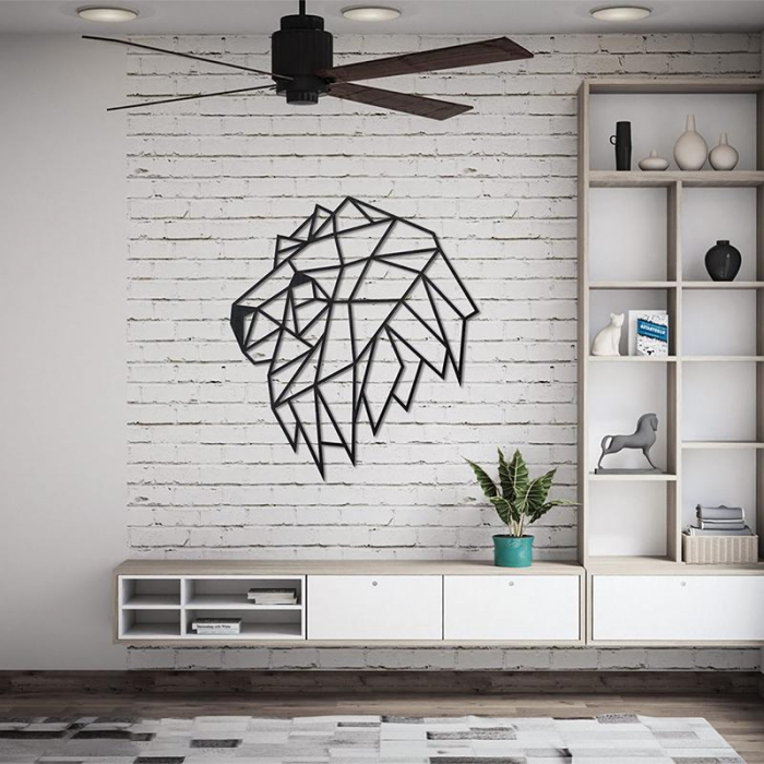 Puzzle 3D decorativ LION HEAD din lemn 134 piese @ EWA [1]