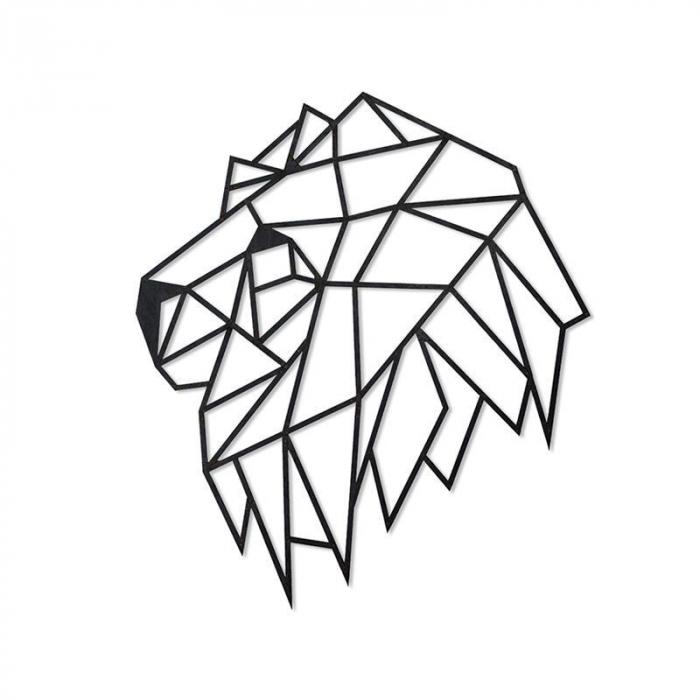 Puzzle 3D decorativ LION HEAD din lemn 134 piese @ EWA [0]