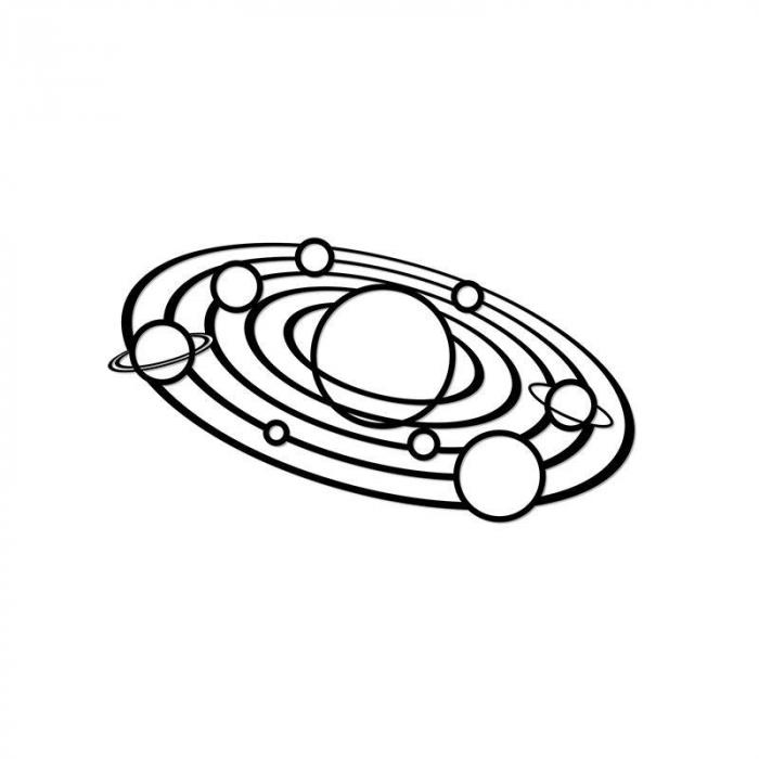 Puzzle 3D decorativ SOLAR SYSTEM din lemn 64 piese @ EWA [0]