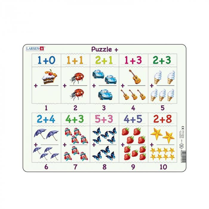 Puzzle maxi Adunari cu imagini, orientare tip vedere, 20 de piese, Larsen [0]