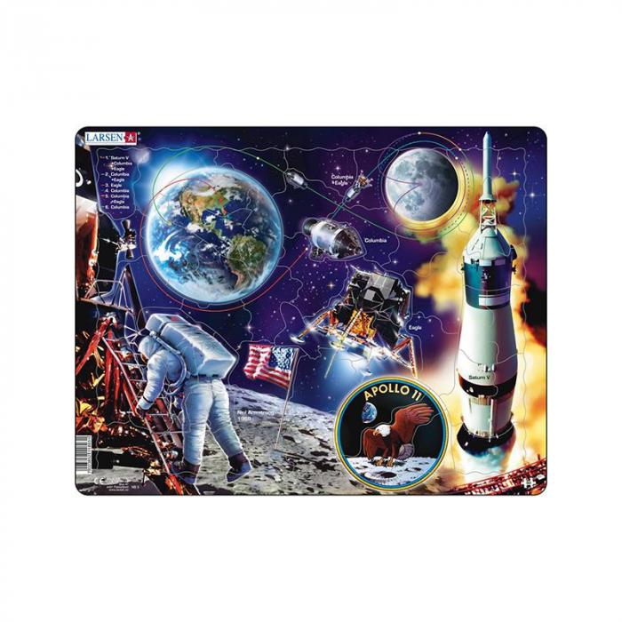 Puzzle maxi Apollo 11, orientare tip vedere,  50 de piese, Larsen [0]
