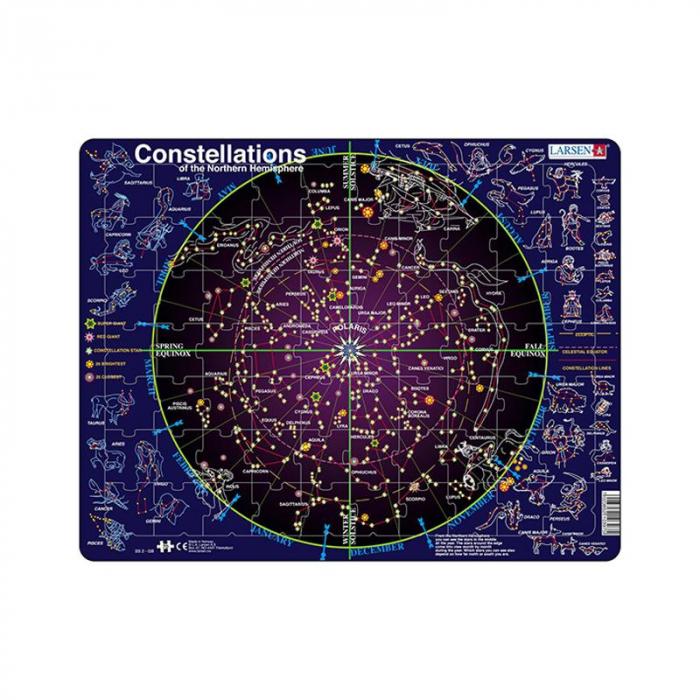 Puzzle maxi Constelatii, orientare tip vedere, 70 de piese, engleza, Larsen [0]